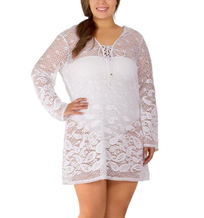 Dotti Womens Plus Size Santorini Tile Dress Cover-Up