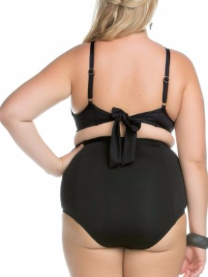 BECCA ETC Womens Plus-Size Electric Current Strappy Hipster Full Coverage Bikini Bottom