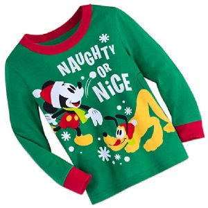 Mickey Mouse and Pluto want to make sure he s on the   nice   side of the  list this holiday. These 100% cotton pajamas feature Mickey and Pluto  screen art ... 66f91eff3