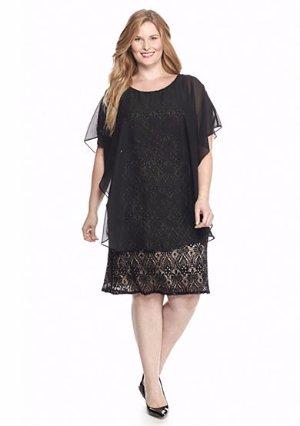 Rm Richards Plus Size 18w 20w Black Lace Dress W Capelet Nwt 140