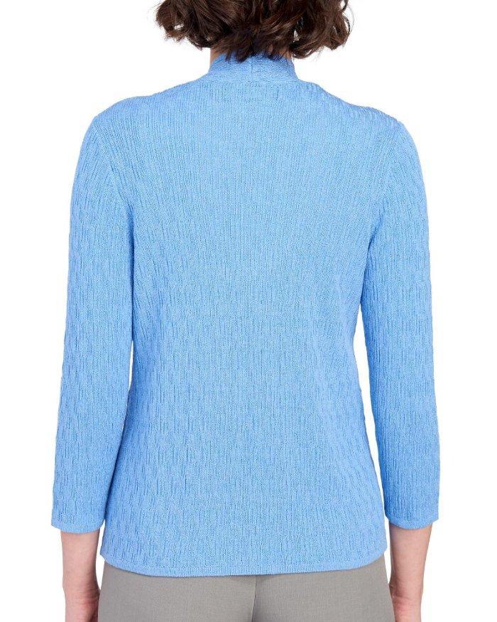 KASPER® Plus Size 2X Black Shaker Stitch Cardigan Sweater NWT $89