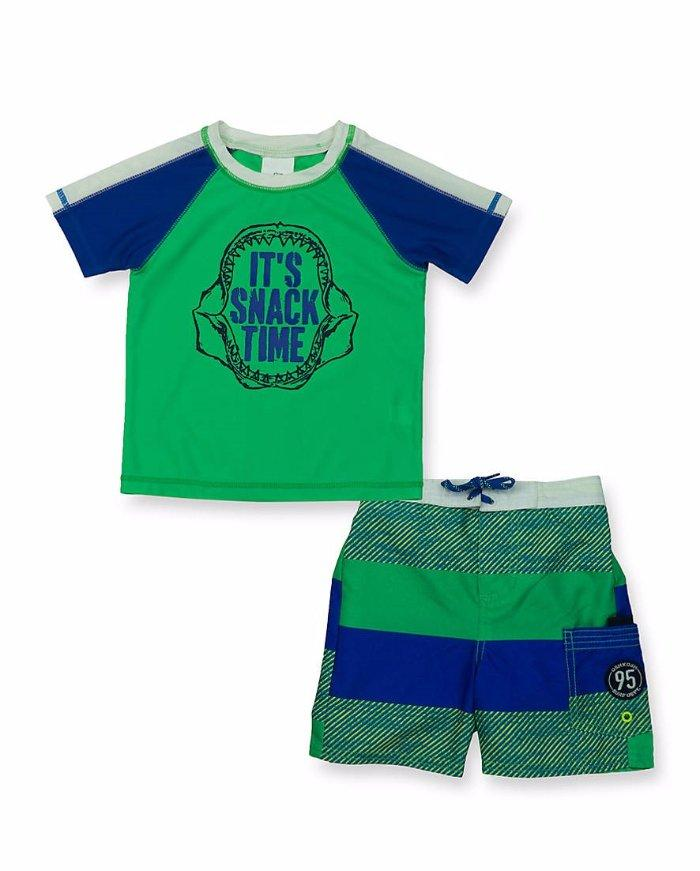 01b5b38d9f Easy pull-on styling and simply adorable symmetry keep your active guy  looking cooler than ever in this must-have set! It's complete with a fun  graphic ...