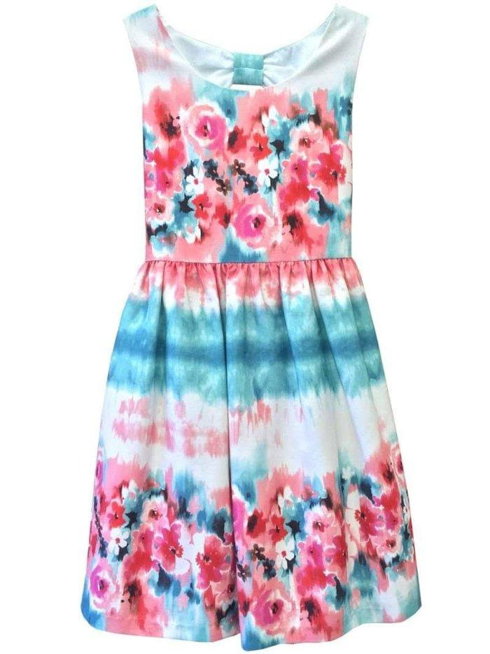 RARE EDITIONS 3T 4T Girls/' Watercolor Floral Shantung Dress NWT $74