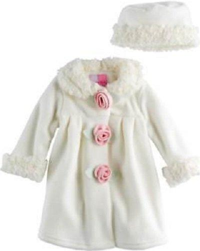 Details about SOPHIE ROSE® Baby Girl 18M White   Pink Fleece Coat   Hat Set  NWT 63b8d2bb0f6