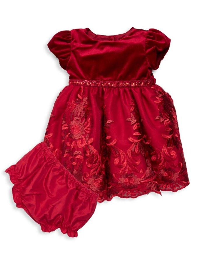 8f5b23ab1 Details about SWEET HEART ROSE® Baby 18M Red Velvet Embroidered Holiday  Dress NWT $54