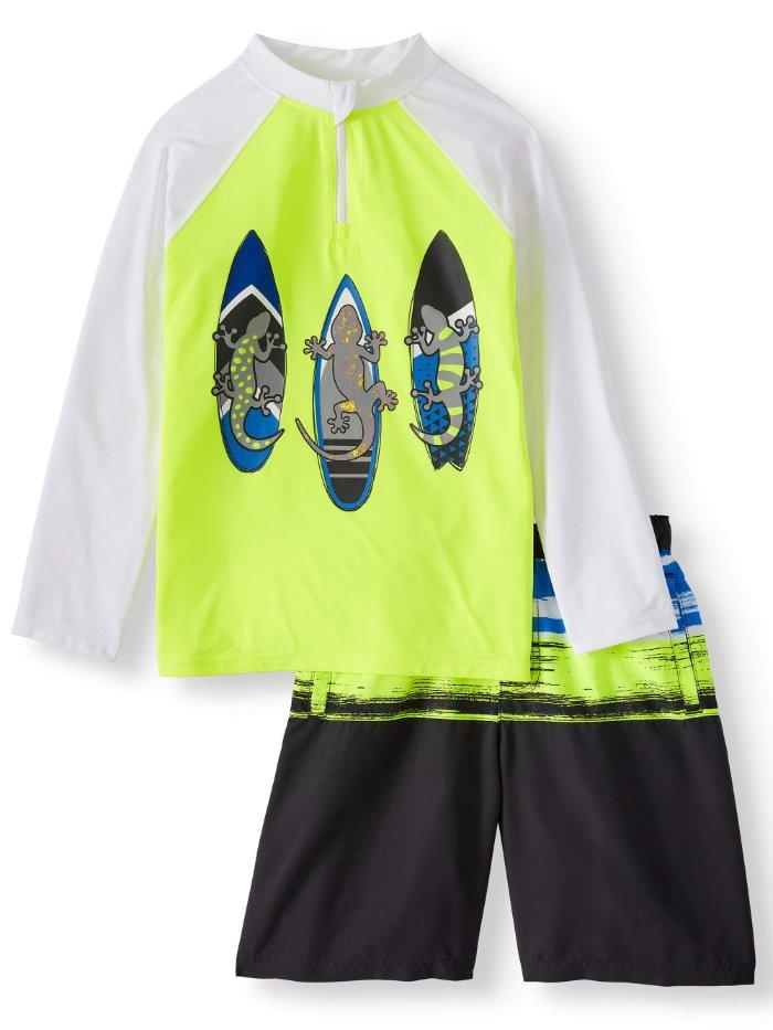 First Wave Rash Guard 8 18 20 Rashguard Swim Shirt L//S NWT Boy/'s