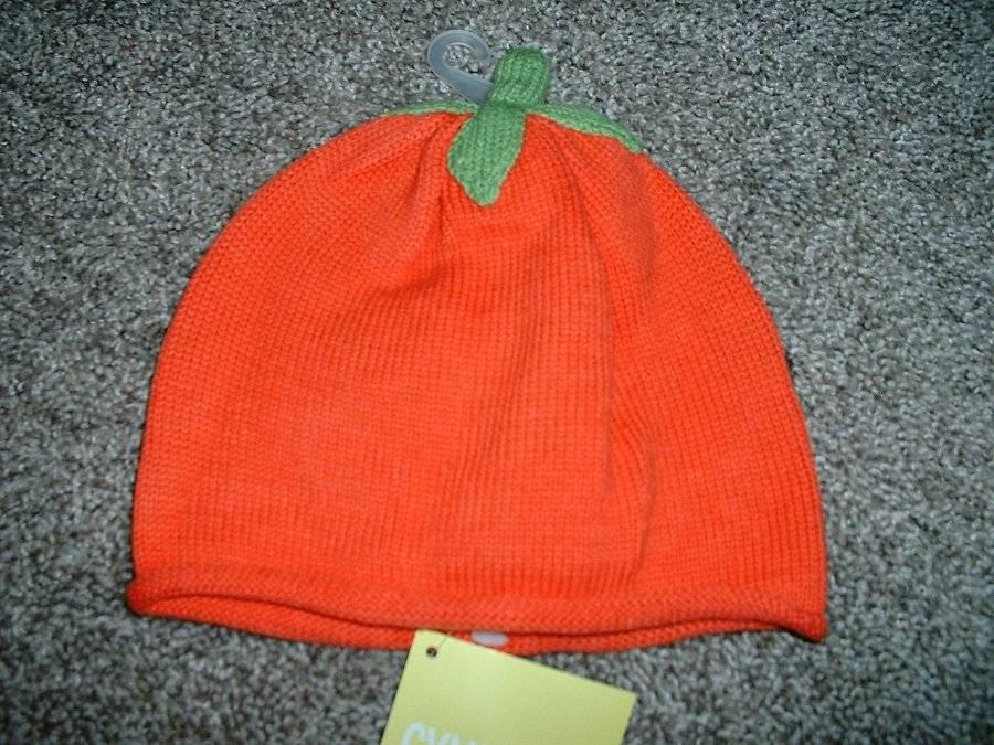 GYMBOREE HALLOWEEN SHOP PUMPKIN SWEATER HAT 0 3 6 12 18 24 NWT