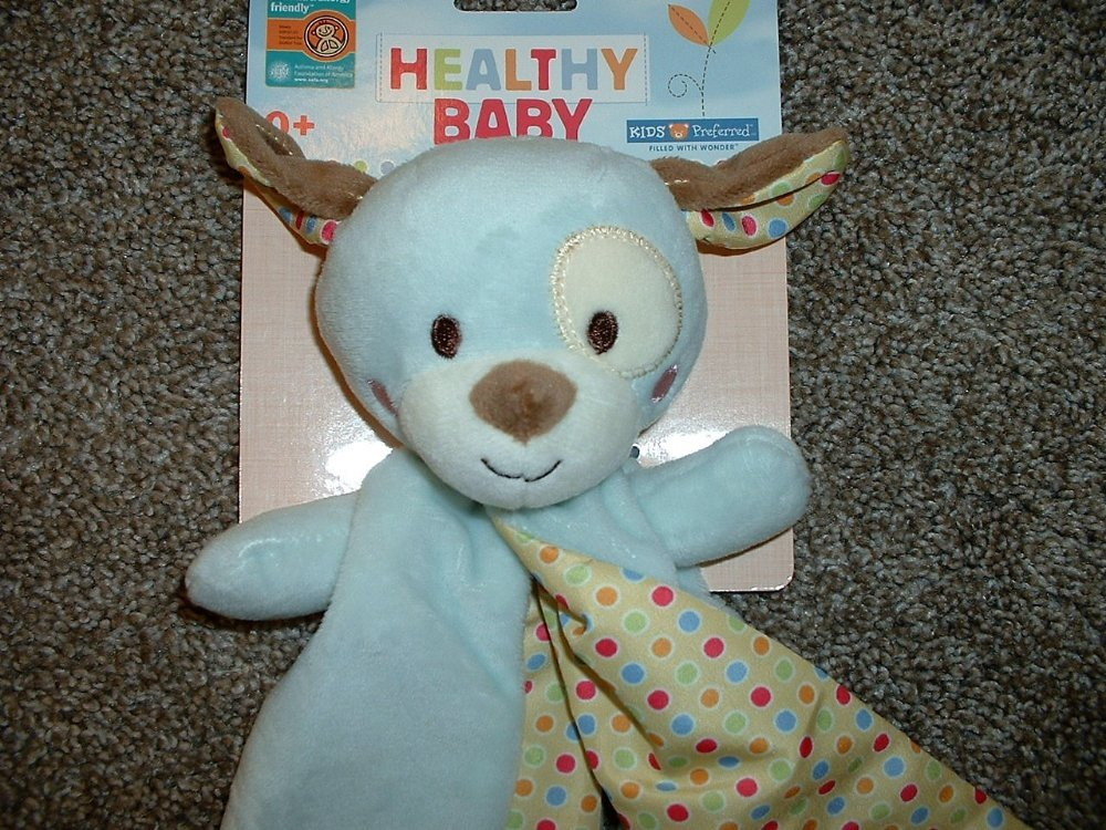 b9a976408 Kids Preferred Healthy Baby Blue Brown Puppy Dog Security Blanket ...