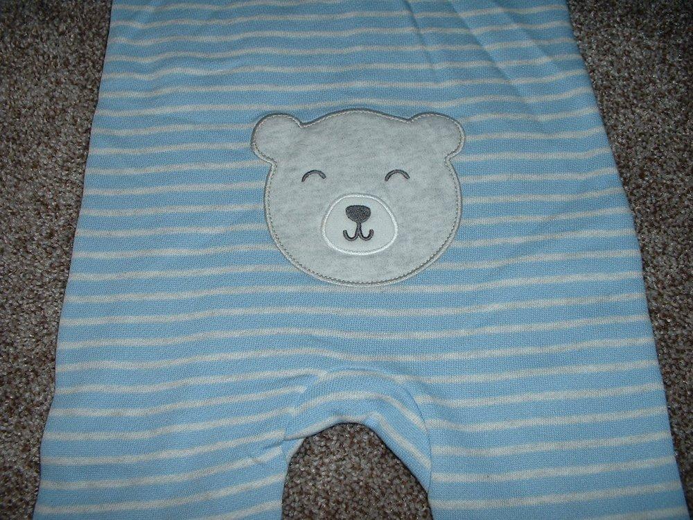 Geo Bears Hooded Romper