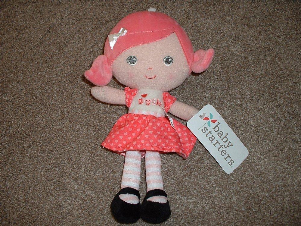 Baby Starters Girls Elephant Blanket Gray Pink Teal Smile Soft Plush NWT NEW HTF