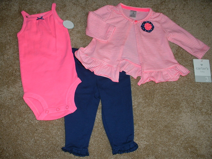 Carters Baby Girls Unicorn 3pc Outfit Set Size Newborn NB 3 Months 3M NWT 0-3