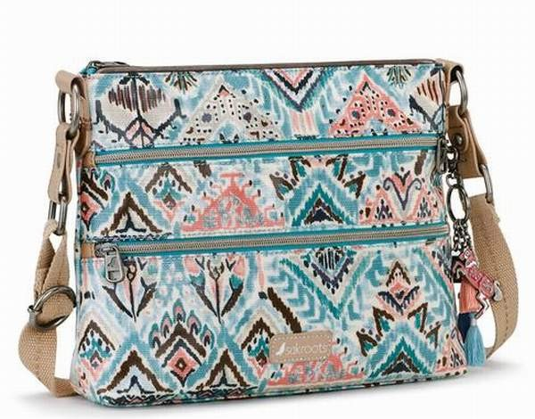 NWT Sakroots Large Smartphone Wristlet Crossbody Turq Brave Beauti New SHIP INT