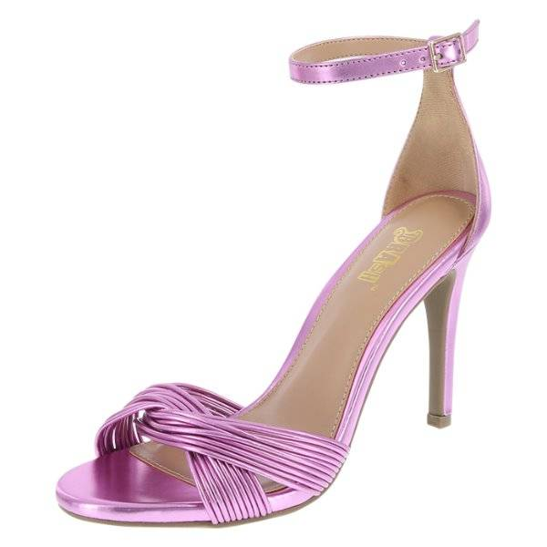 c45af8dcaab Details about NIB-Womens Brash Odessa Pink Metallic Twisted Open Toe Heels  Shoes-sz 6