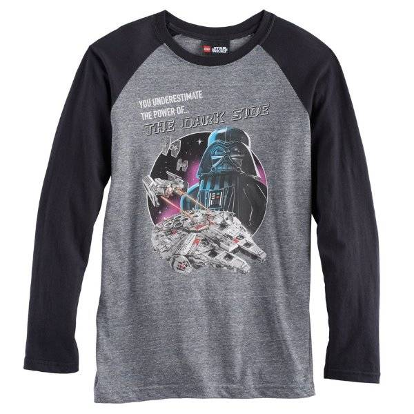 Official Licensed Disney Star Wars Darth Vader The Force Long Sleeve Top T-shirt