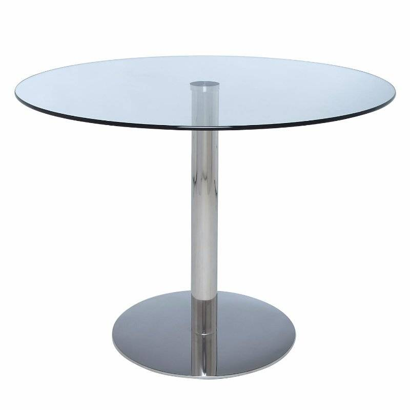 Round Glass Kitchen Table: John Lewis Enzo Round Glass Top Dining Or Occasional Table - V. Good Condition