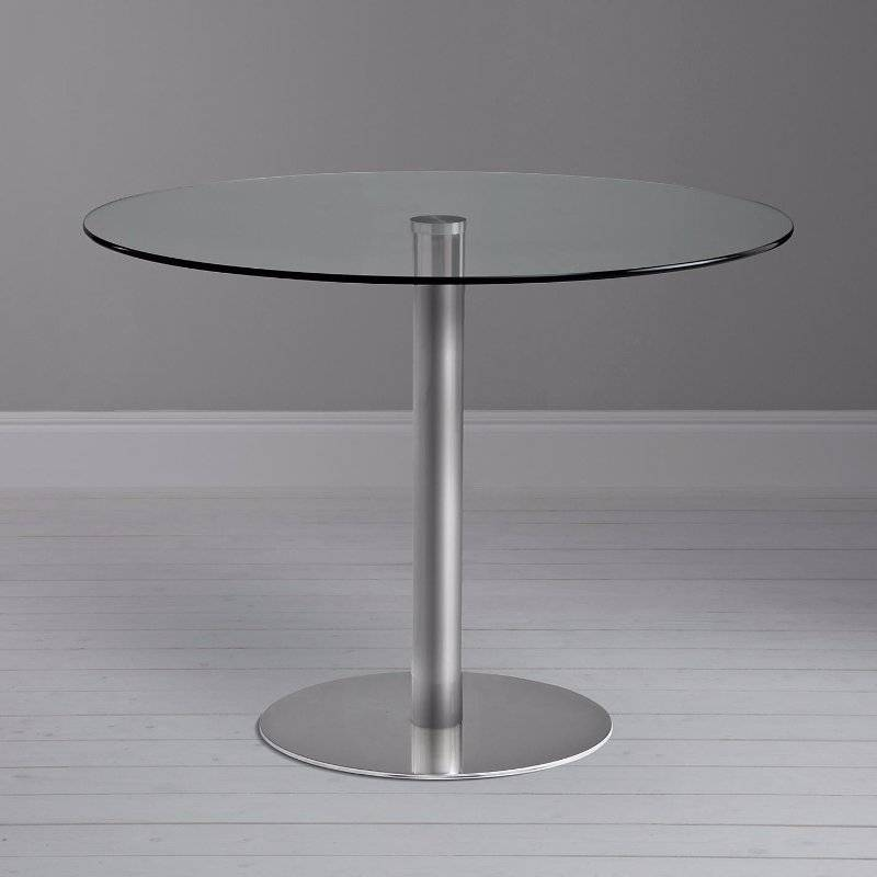 John lewis enzo round glass top dining or occasional table for Glass top occasional tables