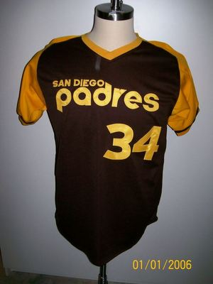 the best attitude 67945 db156 Details about ROLLIE FINGERS SIGNED T/B SAN DIEGO PADRES JERSEY HOF92