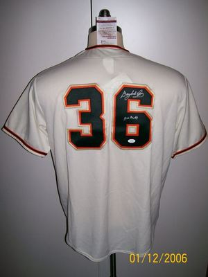pretty nice 8e2b8 6f6b0 Details about GAYLORD PERRY SIGNED SAN FRANCISCO GIANTS JERSEY JSA