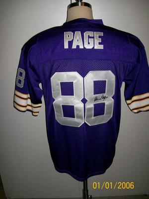 new product 8839e 16a00 Details about ALAN PAGE SIGNED T/B MINNESOTA VIKINGS JERSEY RARE!