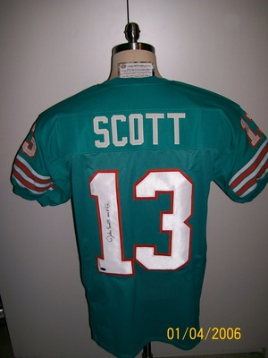 hot sale online 66386 24124 Details about JAKE SCOTT SIGNED T/B 72 MIAMI DOLPHINS JERSEY SB VII MVP
