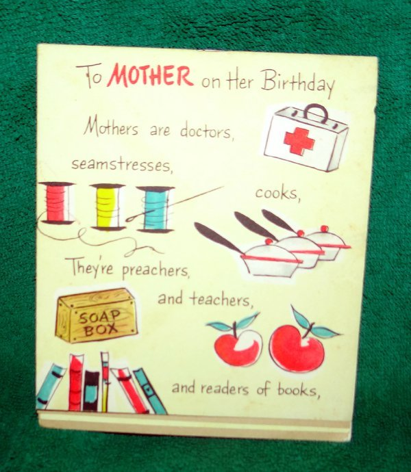 Details About Vintage Hallmark Mothers Birthday Card Unused Multi Page