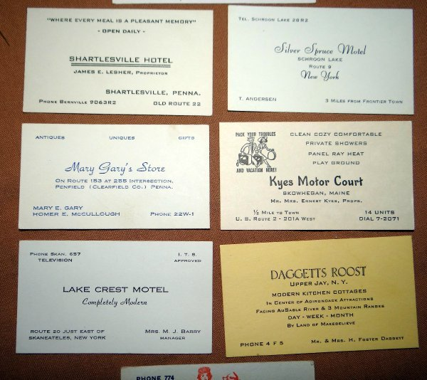 8 vintage business cards 1950s hotels restaurants and turkey farm ebay 8 vintage business cards 1950s hotels restaurants and turkey farm reheart Gallery