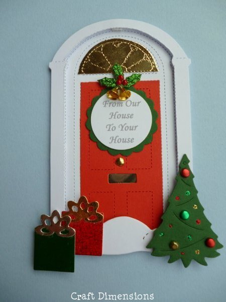 CHRISTMAS  FRONT DOOR DIE CUTS FOR CARD TOPPERS