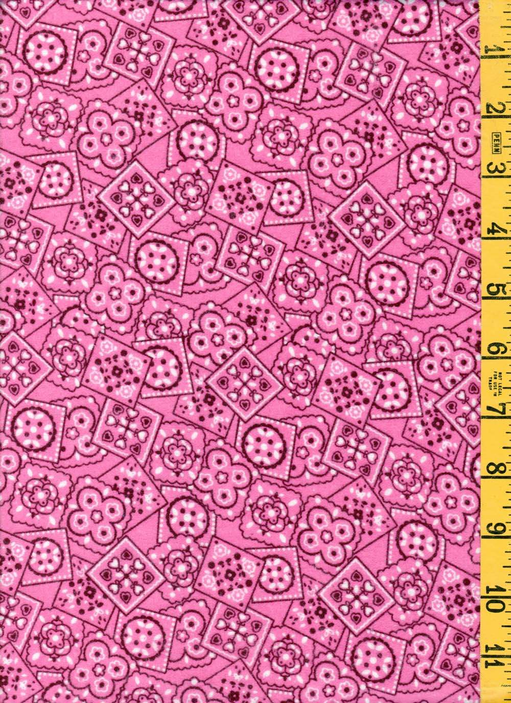NEW 100/% Cotton Quilting Sewing A E Nathan Comfy Flannel Tiny Pink Floral 753