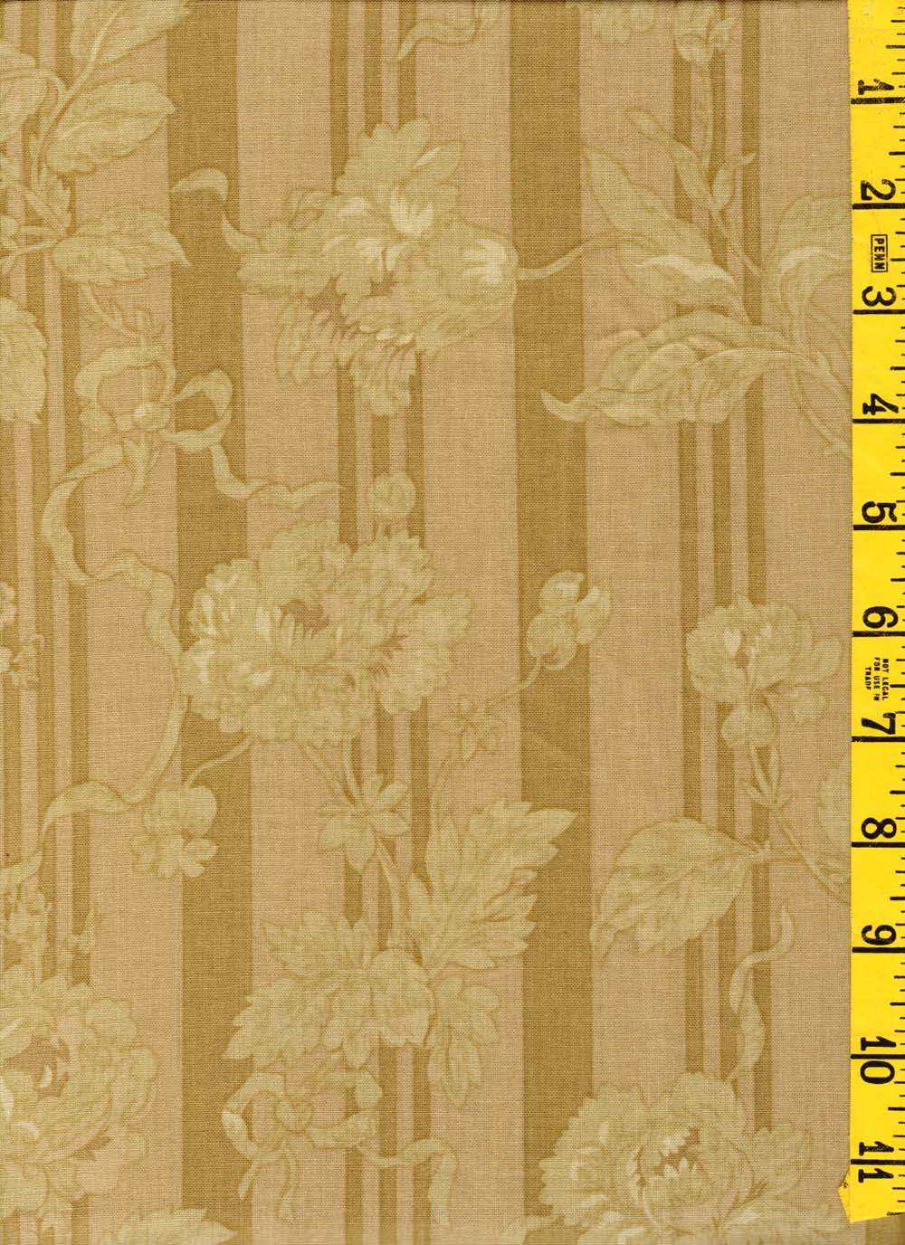 Cotton Quilt Sew Fabric Lansdowne Road by Robyn Pandolph Tonal Roses Beige 0303