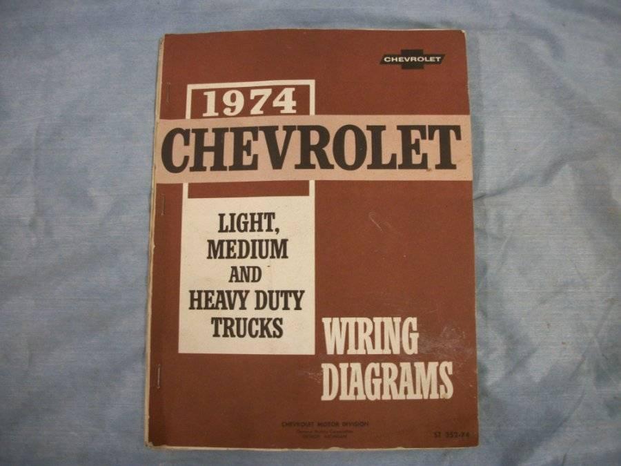 Details zu 1974 Chevrolet Light Medium and Heavy Duty Truck Wiring on