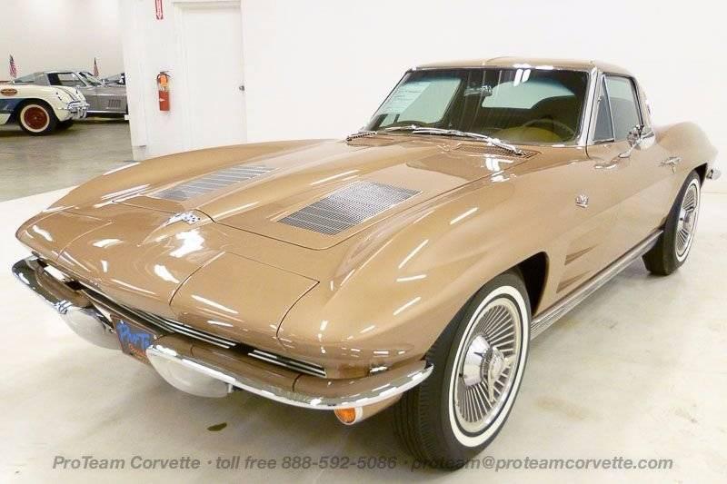 1963 saddle tan corvette split window coupe 327 340hp 4 for 1963 split window corvette ebay
